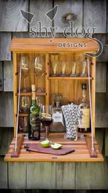Custom Made Outdoor Bar,  African Mahogany