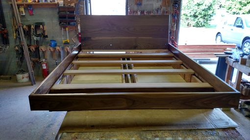 Custom Made Solid Walnut Bed
