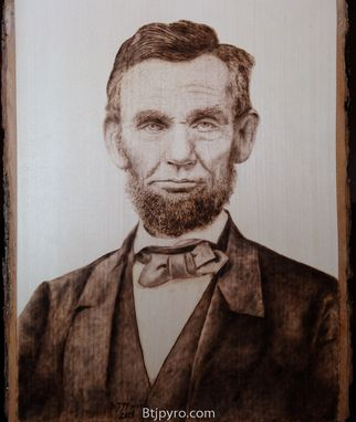Custom Made Abraham Lincoln - Woodburning