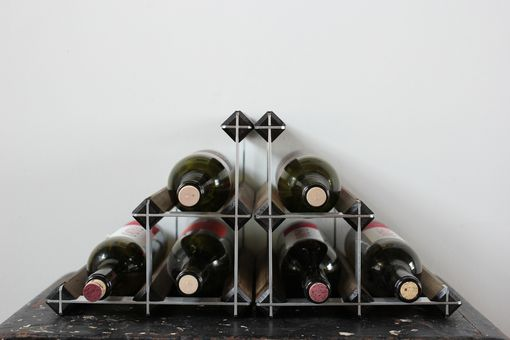 Custom Made The Professor, Bookend Wine Rack