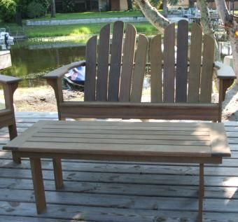 Custom Made Ipe Brazilian Hardwood Adirondack Set