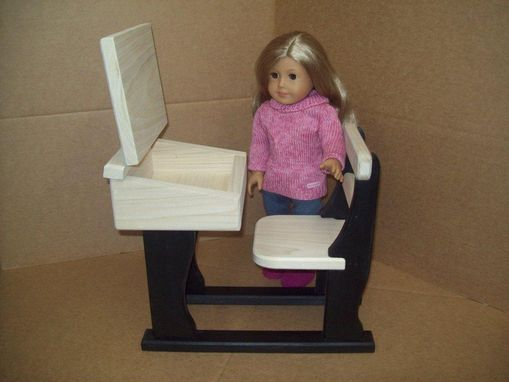 Custom Made 18 Inch Doll School Desk