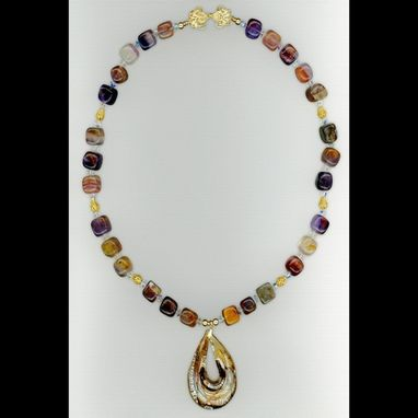Custom Made Fluorite Pear Necklace