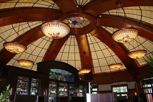 Custom Made Stained Glass Dome And Window