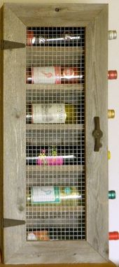 Custom Made Rustic Wine Cabinet With Texas Star Hardware