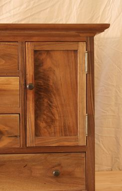 Custom Made Small Walnut Chest Of Drawers