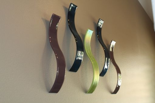 Custom Made Fused Glass Wall Sculpture