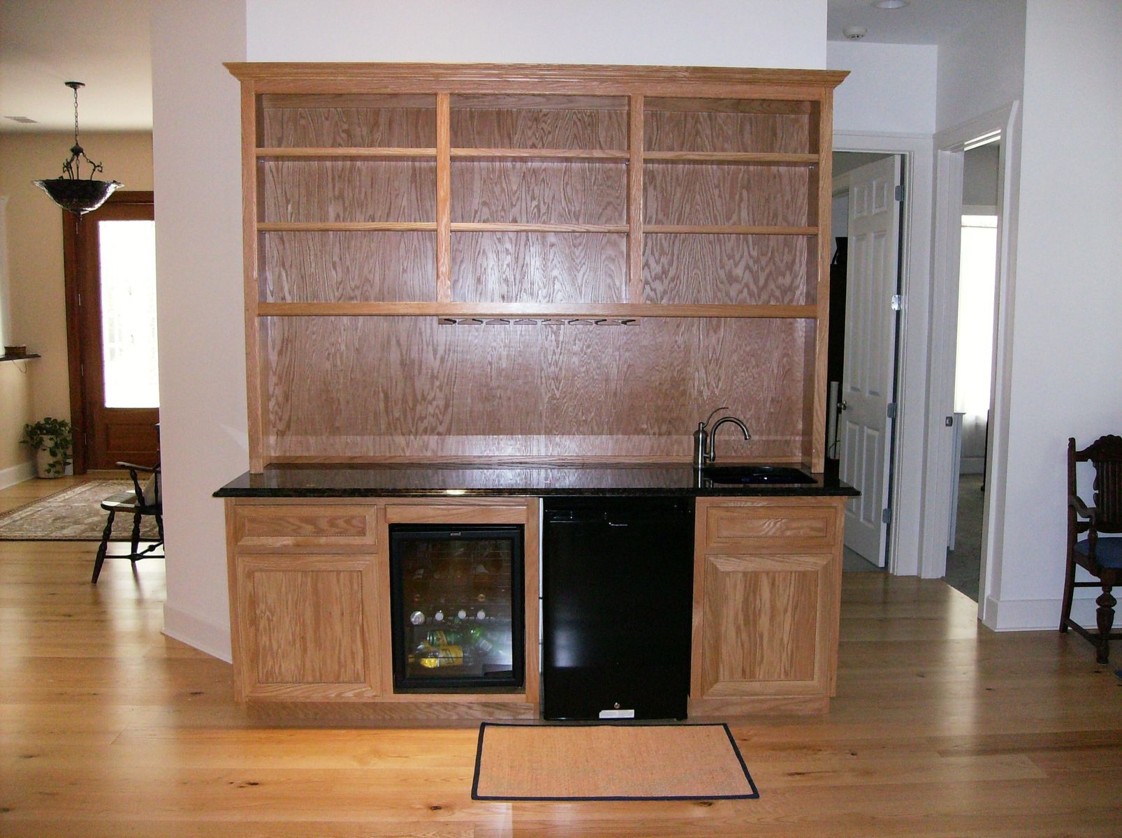 Hand Made Oak Wet Bar By Wood Tech Cabinets Llc
