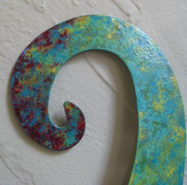 Buy A Handmade Large Metal Octopus Wall Sculpture Ocean Wall Decor Teal Aqua Blue 30 X 30 Beach