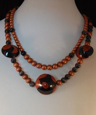 Custom Made Cat's & Copper Double Strand Necklace