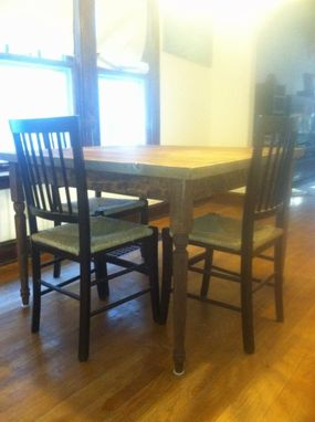 Custom Made Reclaimed Wood Kitchen Table