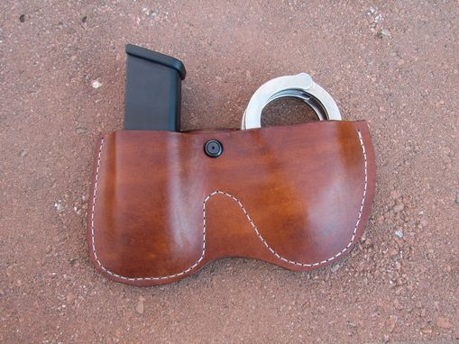 Custom Made Leather Handcuff And Magazine Holster