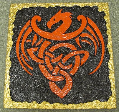Custom Made Celtic Dragon 3d Wall Art