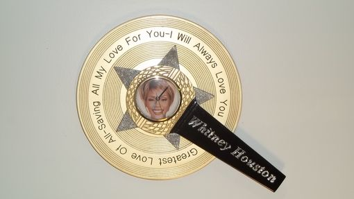 Custom Made Whitney Houston Wall Plaque
