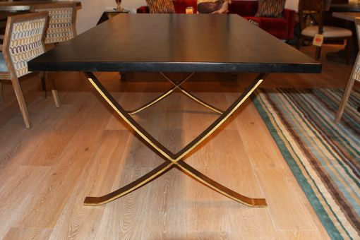 Custom Made Black And Gold Vogue Dining Table