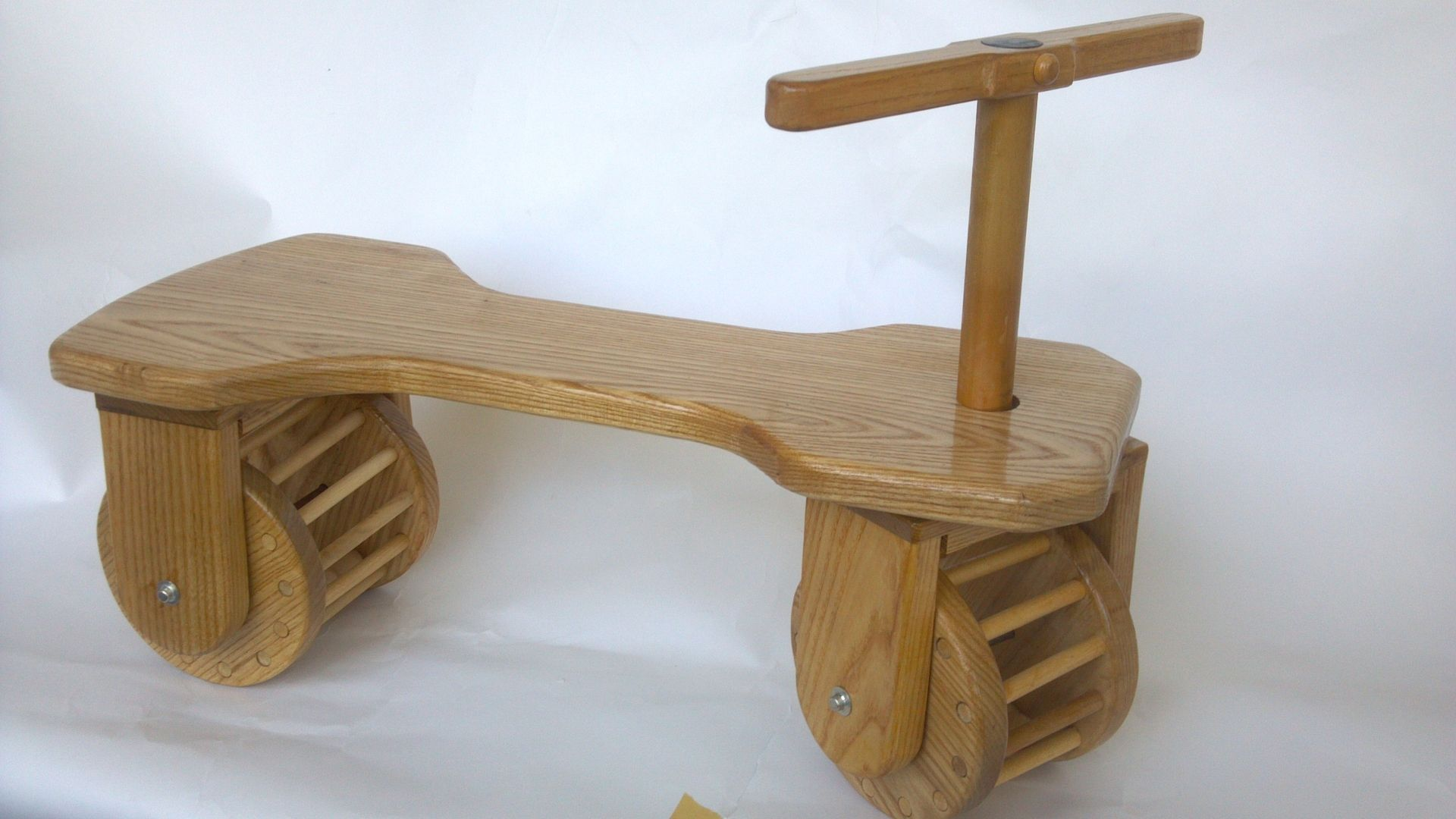 Handmade Toddler s Hard Wood Ride Scooter by TroonToyWoks