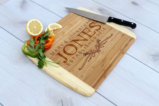 Custom Made Personalized Cutting Board, Engraved Cutting Board, Custom Wedding Gift – Cb-Bam-Jones
