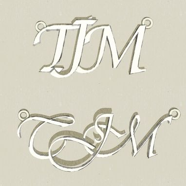 Custom Made Custom Initials Or Name Pendant