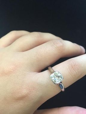 Custom Made Custom Cushion Bezel Set Engagement Ring