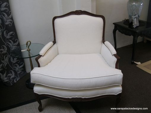 Custom Made Luxe Upholstered Bergere Chair