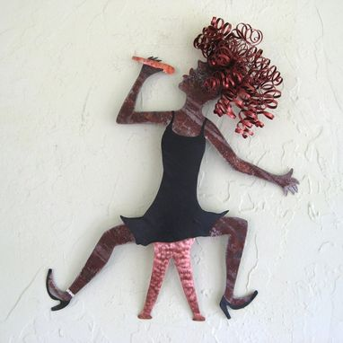 Custom Made Jazz Singer Wall Art Sculpture Recycled Metal Music Decor