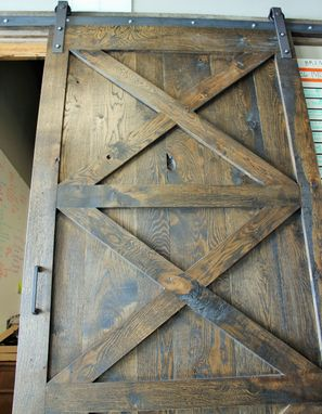 Custom Made Rustic Alder Sliding Barn Door