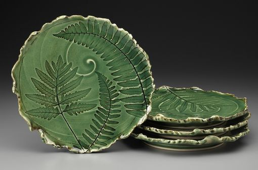 Custom Made Fern Plates; Functional And Can Also Hang On The Wall