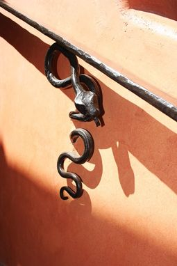 Custom Made Snake Hand Rail. Hand-Forged Iron.