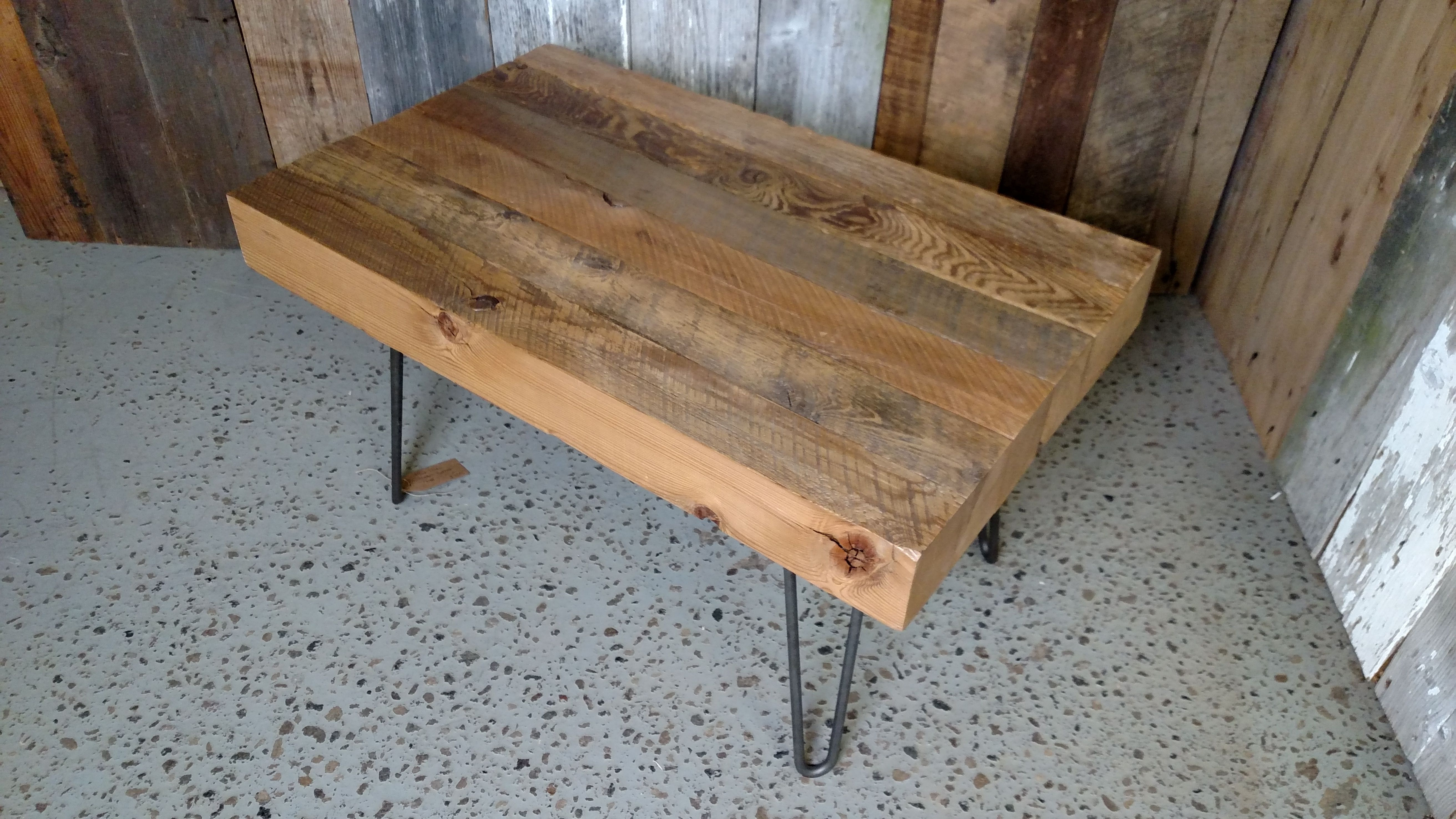 Buy A Custom Made Barn Beam And Hairpin Leg Coffee Table