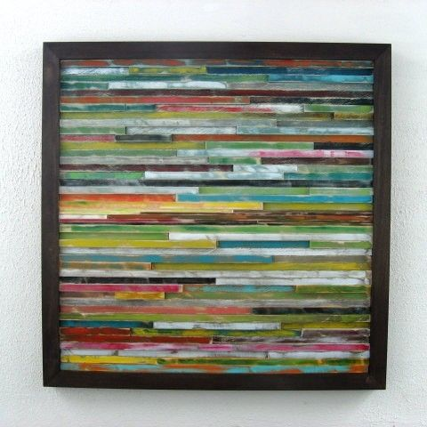Buy a Hand Crafted Distressed Wall Art, Abstract Wood Wall Art ...