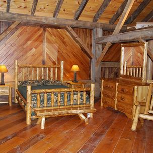 Traditional Cedar Log Beds By