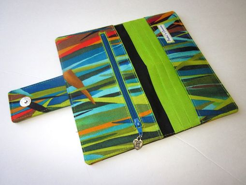 Custom Made Handmade Women Wallet The Everglades- Vegan