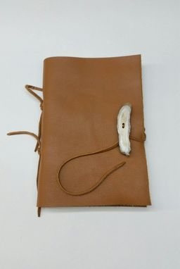 Custom Made Rustic Leather Journal With Antler