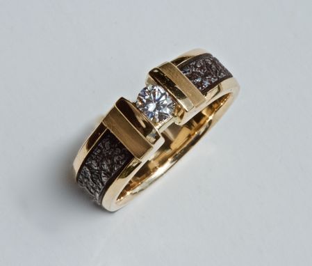 Custom Made Ladies Engagement Ring, 14ktgold, Channel Set .25ct Diamond,