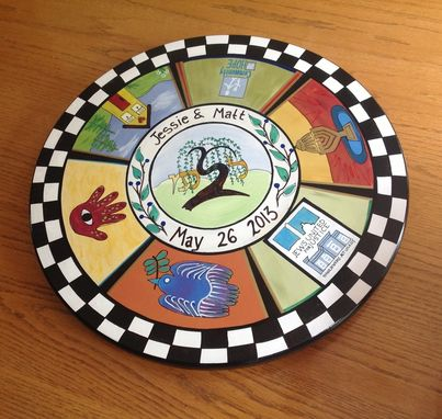 "Custom Made Custom Jewish Lazy Susan 20"" Hand Painted"