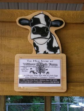 Custom Made State Fair Cow Name Plaques