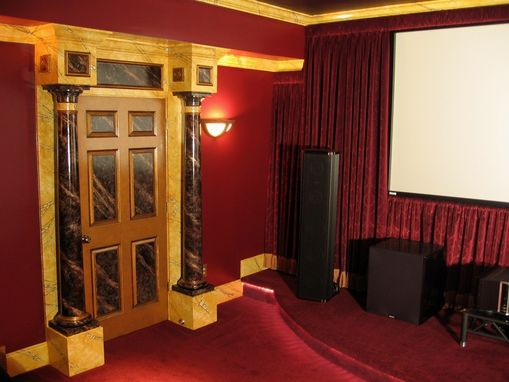 Custom Made Art Deco Movie Palace Home Theater Faux Finishes And Design By Visionary Mural Co.
