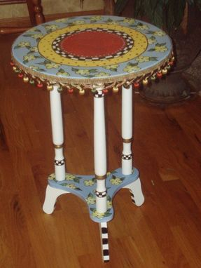 Custom Made Hand Painted Accent Table