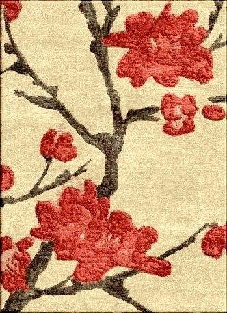 Hand Crafted Cherry Blossom Rug By Rug Rats Custommade Com