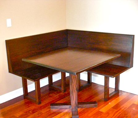 Custom Made Oak Bench Banquette And Dining Table