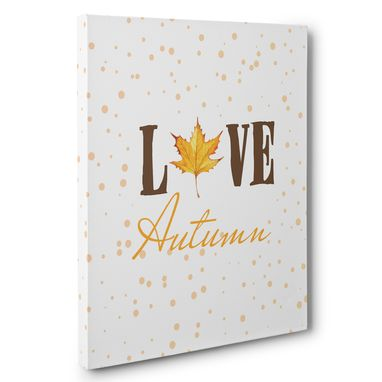 Custom Made Leaf Love Autumn Canvas Wall Art