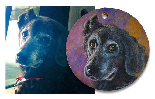 Custom Made Black Dog Painting