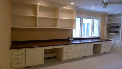 Custom Made Custom Office Built-In With Mahogany Counter  Top