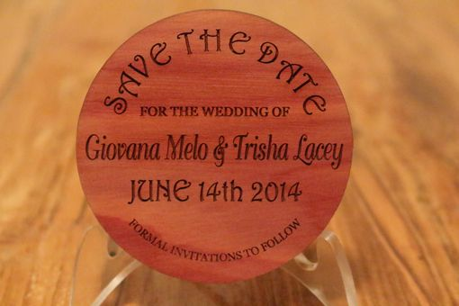 Custom Made Save The Date Coaster