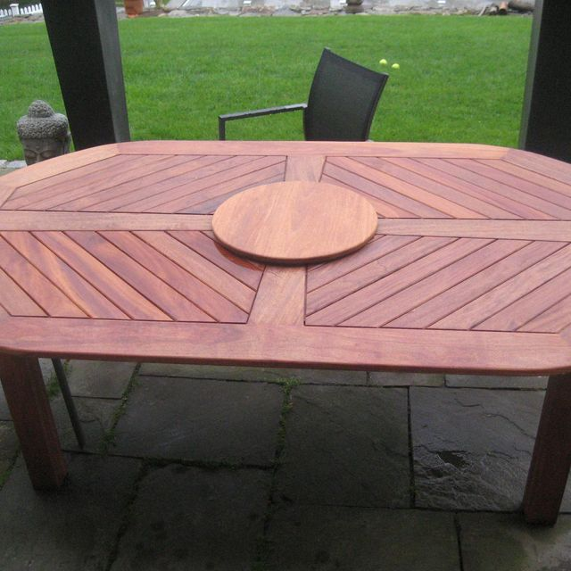 Hand Crafted Outdoor Teak Table by J.R Signature Creations ...
