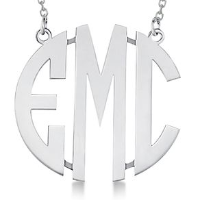 Monogram necklaces monogrammed initials pendants custommade bold face custom initial monogram pendant necklace aloadofball Gallery