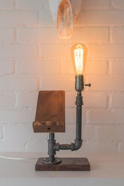 Custom Made Pipe Light With Phone Cradle