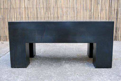 Custom Made Modern Industrial Coffee Table. Urban Minimalist Bench. Steel End Table. Handmade.
