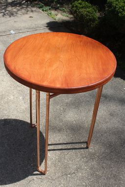 Custom Made Birch Plywood & Copper Pipe Cafe Table