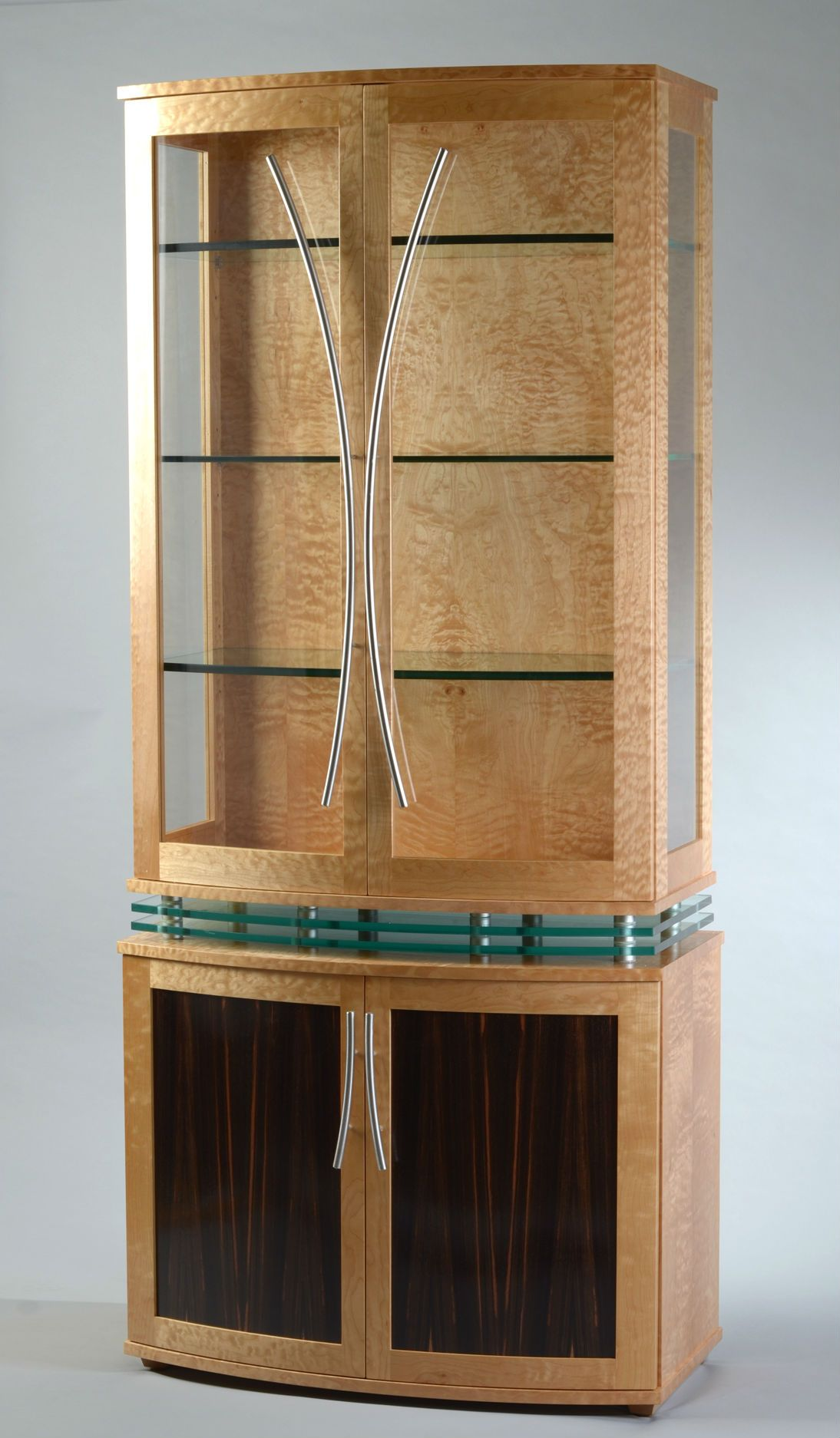 Custom Made China Cabinet Art Deco Style, Modern Display Cabinet ...